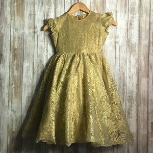 Other - Gold Lace Dress